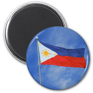 Filippinsk flagga magnet rund 5.7 cm