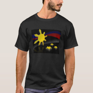 filippinsk flagga tshirts