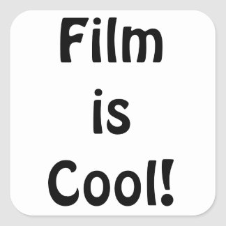 Film är kall! Kvadrera Fyrkantiga Klistermärken