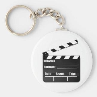 Film Clapperboard Rund Nyckelring