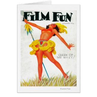 Filma den roliga tidskriften täcker 4 hälsningskort