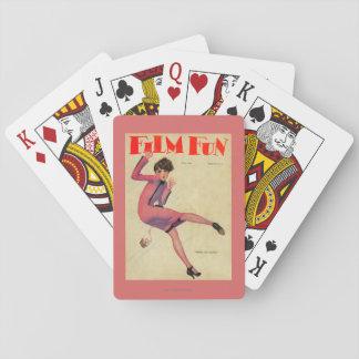 Filma den roliga tidskriften täcker spel kort
