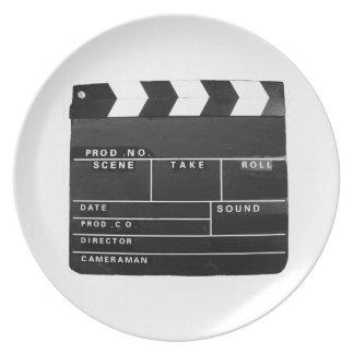 Filma filmen som den videopd produktionclapperen tallrik