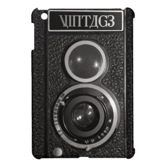 Filma för kromvintage för kameran det svart fodral iPad mini mobil skal