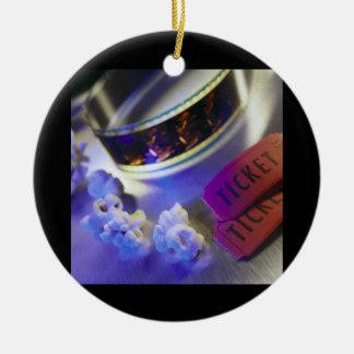 Filmbiografen filmar, Popcorn & biljetter Julgransprydnad Keramik