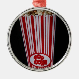 Filmnatt och Popcorn Julgransprydnad Metall