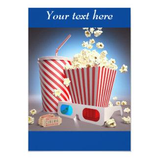 Filmpopcorn 12,7 X 17,8 Cm Inbjudningskort
