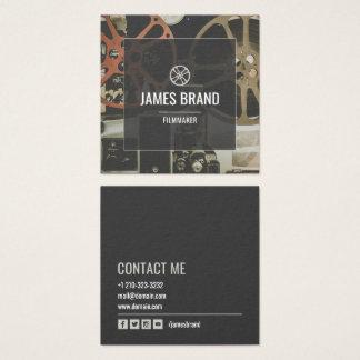Filmvideofilmskapare Fyrkantigt Visitkort