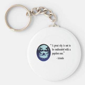 Filosof Aristotle. En underbar stad. keychain Rund Nyckelring