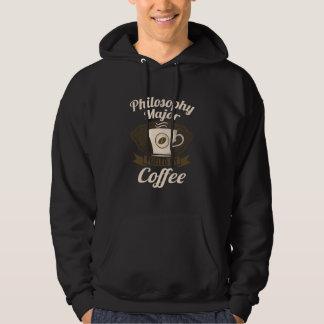 Filosofi ha som huvudämne tankat av kaffe sweatshirt med luva
