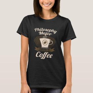 Filosofi ha som huvudämne tankat av kaffe t-shirt