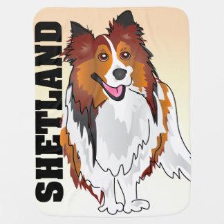 Filt för baby för Shetland Sheepdog