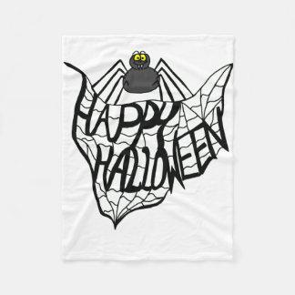 Filt för happy halloweenspindelnätull