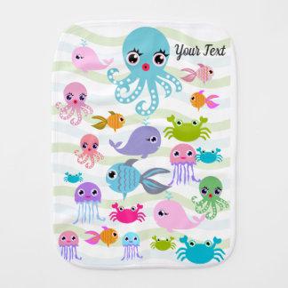 filt för havhavsbaby, bläckfisk, krabba, bebistrasa
