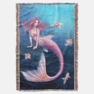 Filt för kast för Aurelia guldfisksjöjungfru