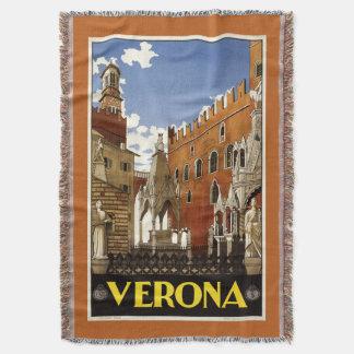 Filt för kast för Verona italienvintage resor