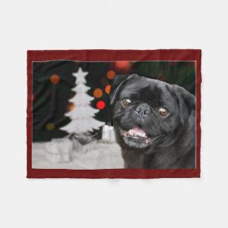 Filt för ull för julmopshund