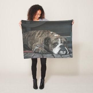 Filt för ull för översittaredeppighetbulldogg