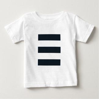 Fin Jersey T för baby skjorta: Görade randig svart Tee Shirts
