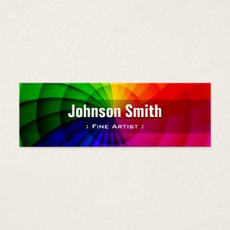 Fin konstnär - radiella regnbågefärger litet visitkort