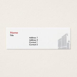 Finans/försäkring - smala litet visitkort
