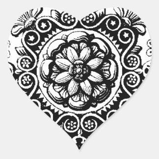 finare bläddrad hjärtaklistermärke hjärtformat klistermärke