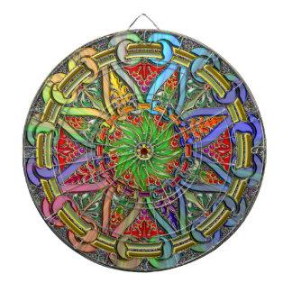 Finare cirklar blom- design piltavla