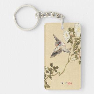 Finch för sebra för Matsumoto Keibun fågel- och bl
