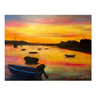 Findhorn solnedgång vykort