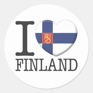 Finland2 Rund Klistermärke