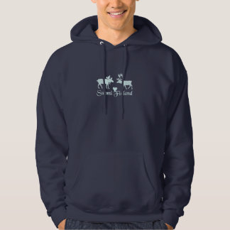 Finland älg & renT-tröja Sweatshirt Med Luva