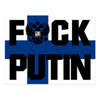Finland Anti Putin vykort