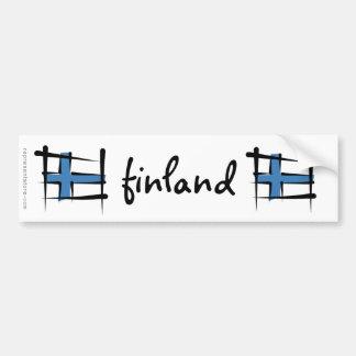 Finland borstar flagga bildekal
