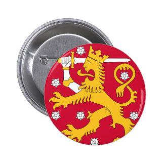 finland emblem knapp med nål