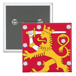 finland emblem standard kanpp fyrkantig 5.1 cm