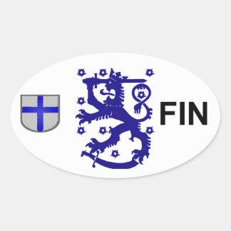 Finland Euroklistermärke Ovalt Klistermärke