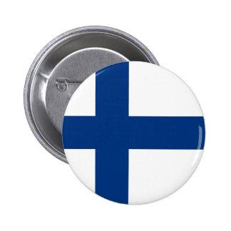 Finland - finlandssvensk medborgareflagga standard knapp rund 5.7 cm