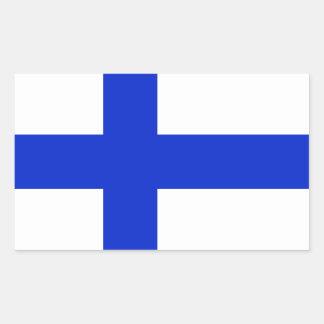 Finland flagga rektangelformat klistermärke