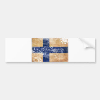 Finland flagga bildekal