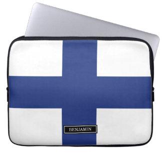 Finland flagga laptop fodral