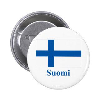 Finland flagga med namn i finska knappar