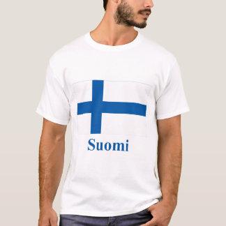 Finland flagga med namn i finska tee