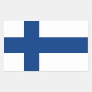 Finland flagga rektangulärt klistermärke