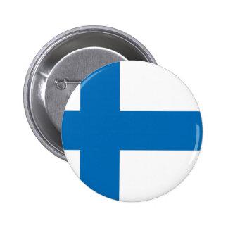 Finland flagga standard knapp rund 5.7 cm