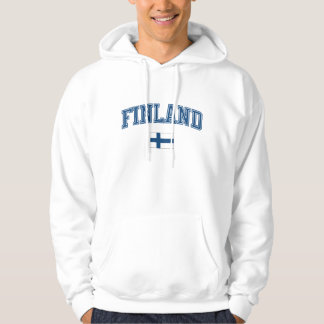 Finland + Flagga Sweatshirt Med Luva