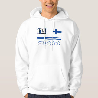 Finland flagga sweatshirt med luva