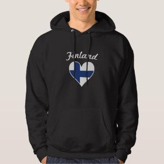 Finland flaggahjärta sweatshirt