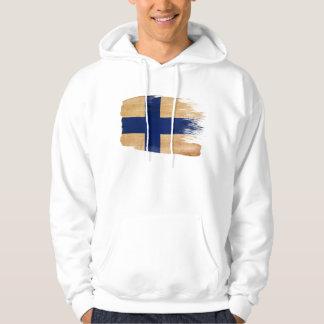 Finland flaggaHoodie Tröja Med Luva