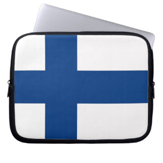 Finland flaggalaptop sleeve