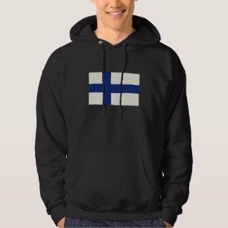 Finland flaggaoljemålning munkjacka